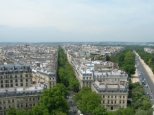 Триумфальная арка, L`Arc de Triomphe, фото, Париж, арк, панорама