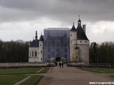 Замок Шенонсо, Chateau de Chenonceau, Франция фото, замки Франции, парк