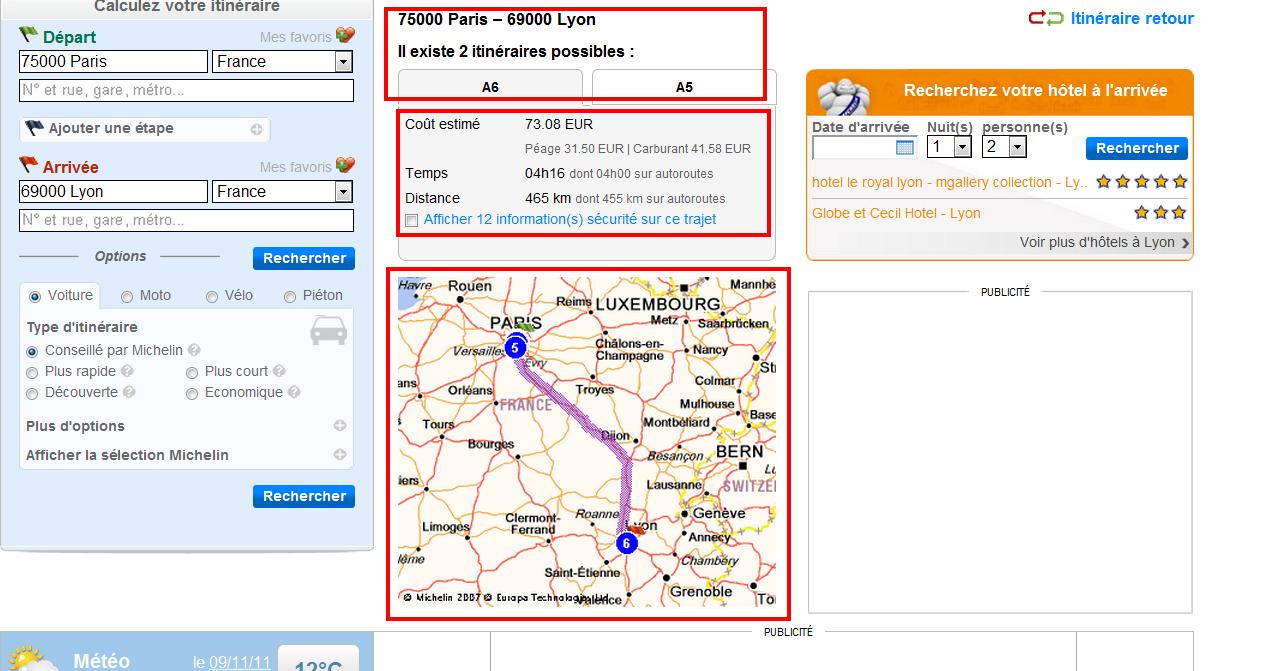viamichelin, прокладка трасс, маршруты, он-лайн, инструкция