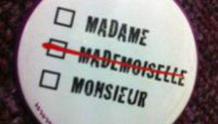 Запрет на использование обращения «мадемуазель»