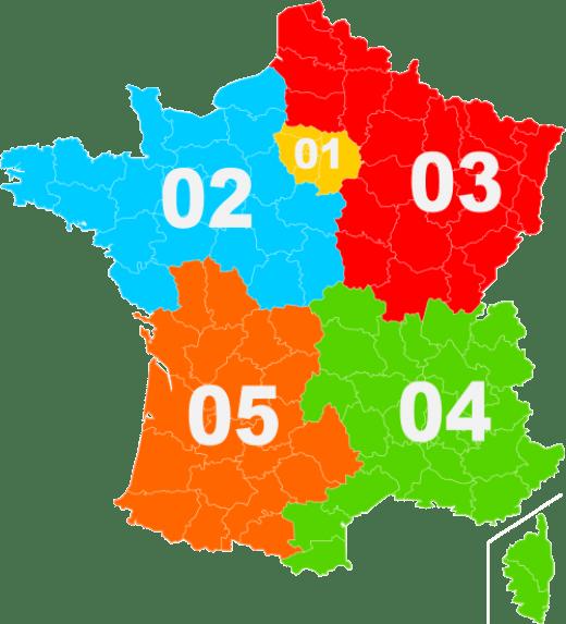 Телефонные регионы Франции