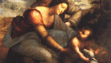 Картина Леонардо да Винчи выставлена в Лувре